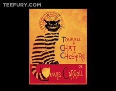Chat du Cheshire by Harantula - Shirt sold on March 20th at http://teefury.com - More by the artist at http://facebook.comharantula/