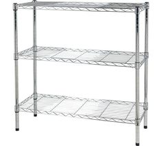 Buy HOME Heavy Duty 3 Tier Metal Shelving Unit - Chrome Plated at Argos.co.uk - Your Online Shop for Bookcases and shelving units, Storage, Home and garden.
