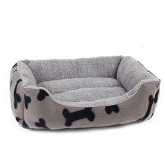 Dog Bed with Dog Bone Design