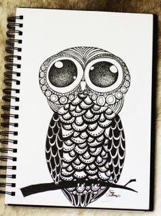 Owl Doodle by Maria Christina Heidemann Pinned by www.myowlbarn.com