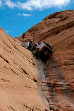 Cherokee going up Hell's Gate in Moab, Utah - but. ya know. it's not a real jeep. 4x4, Moab Utah, Utah Usa, Jeep Xj Mods, Jeep Trails, Jeep Cherokee Xj, Off Road Adventure, Cool Jeeps, Jeep Truck