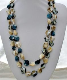 """Sally C Pearl Sterling Silver Necklace 56"""" Long Blister Rope Hallmarked New 