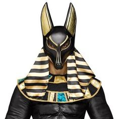 With the head of a jackal and the body of a man, you can transform into the Ancient Egyptian god of the Underworld with this incredible Anubis mask. Pair this mask with your favorite Egyptian costume and prepare to usher the deceased souls to the aft. Anubis Costume, Egyptian Costume, Adult Halloween, Halloween Masks, Halloween 2019, Halloween Ideas, Halloween Stuff, Egyptian Themed Party, Egyptian Anubis