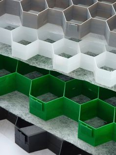 CORE Gravel panels' honeycomb structure makes the system strong enough to support vehicles.