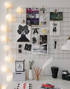 Iron mesh moodboard: home office inspiration