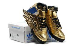 Women Jeremy Scott by adidas Originals x JS Wings gold For $99.99
