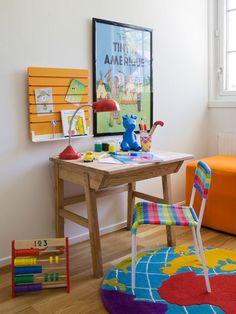 ¡Qué lindos colores! ¡y el tapete de mapa!