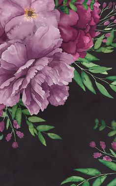 Welcome floral wallpaper with a difference to your space with this fresh purple watercolour floral wallpaper. Watercolor Floral Wallpaper, Flower Wallpaper, Watercolor Flowers, Bird Prints, Large Prints, Pink Color Schemes, Estilo Grunge, Dark Wallpaper, Watercolors