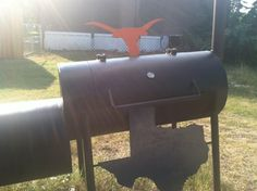 Texas Longhorns custom BBQ pit