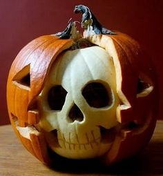 Get your carving tools out, because we have 20 ways—from spooky to elegant to jolly—to make your house Halloween ready. Halloween Pumpkin Ideas Please enable JavaScript to view the comments powered by Disqus. Happy Halloween, Holidays Halloween, Spooky Halloween, Halloween Crafts, Halloween Party, Halloween 2017, Halloween Carved Pumpkins, Zombie Pumpkins, Halloween Outfits