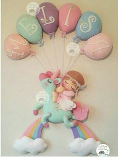 Cute Crafts, Felt Crafts, Diy And Crafts, Crafts For Kids, Sewing Projects, Projects To Try, Diy Bebe, Felt Wreath, Baby Mobile