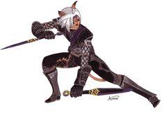 final_fantasy_xi___mithra___ninja_af_by_kuraikitsune4-d7io4ji.jpg (1024×717)
