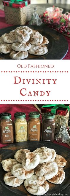 If you have never made Divinity Candy, now is the time to try! Deliciously sweet and packed with Holiday flavors. #sponsored, #SimplyOrganicHolidays #vitacostvip #cookforachange @vitacost and @simplyorganicfoods #glutenfree