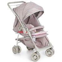 Carrinho de Bebê Reversível Maranello II Galzerano - Cinza e Rosa
