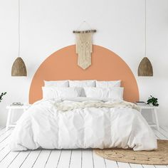 Arch Wall Decal, Bed Arch Sticker,Arch Headboard Wall Decal,Boho Arch Wall Sticker,Modern Geometric Decor,Minimalist Decal,Arch Wall Sticker