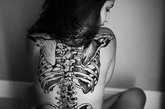 anatomical bones back piece
