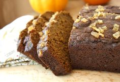 Pumpkin gingerbread is a beautifully-textured loaf cake made extra moist with pumpkin puree and molasses. Candied ginger sprinkled over top makes it sparking and festive
