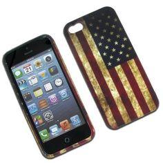 American  Flag Skin Back Case  Rubber Soft Cover For Apple iPhone 5S 5 #UnbrandedGeneric