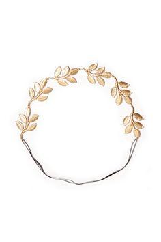 greek leaf headband