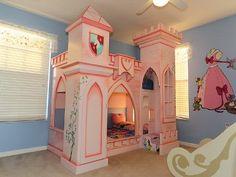 Enchanting Princess Castle Bunk Bed
