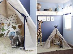 SweetLittlePeanut_Modern Safari boy's room featuring Rugs USA Natural Greek Flokati