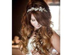 Penteado de noiva solto