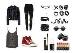 """""""Rock Chic"""" by oliverab ❤ liked on Polyvore featuring Billabong, Yves Saint Laurent, Converse, Retrò, L'Oréal Paris, Essie, Dr.Hauschka, Chico's, Repossi and Emi Jewellery"""