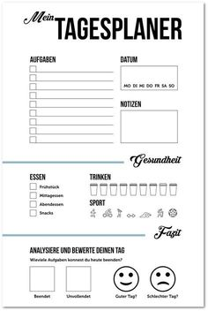 Planning a day: tips & templates for a quick end to work- Tag planen: Tipps & Vorlagen für einen schnellen Feierabend Planning the day: This is how you use your time better and have a quicker end to work. ✅ Tips and free templates for daily planner … - Woodsmith Plans, Planning Your Day, Shed Plans, Journal Inspiration, Good To Know, About Me Blog, Bullet Journal, Told You So, Printables