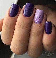 Excellent light and dark purple nail polish - NailiDeas . - Excellent light and dark purple nail polish – NailiDeasTrends – Excellent ligh - Dark Purple Nail Polish, Light Purple Nails, Pink Nails, Purple Wedding Nails, Dark Color Nails, Purple Nail Art, Purple Gray, Black Nail, Purple Nail Designs