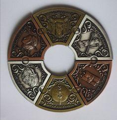 Fantasy Coin: Legacy Gaming Coins by Fantasy Coin, LLC — Kickstarter High Fantasy, Medieval Fantasy, Fantasy Art, Coin Design, Game Design, Flat Design, Once Upon A Tome, Custom Coins, Coin Art