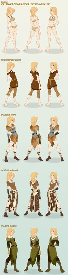 Skyrim: Valkari Character Turn-Around by *the-Orator on deviantART