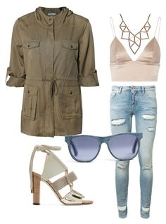 """""""Parka jeans"""" by mikai-toot on Polyvore featuring Dex, Off-White, Jimmy Choo, T By Alexander Wang and Chicnova Fashion"""