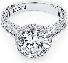 Tacori white gold round cut diamond