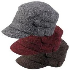 @Overstock - Fashionable herringbone pattern add style to this military cap by Journee Collection. Constructed of soft wool blend material, this tweed cap is completed with an elastic back for easy styling.http://www.overstock.com/Clothing-Shoes/Journee-Collection-Womens-Fleece-Lined-Tweed-Military-Hat/6378650/product.html?CID=214117 $18.99