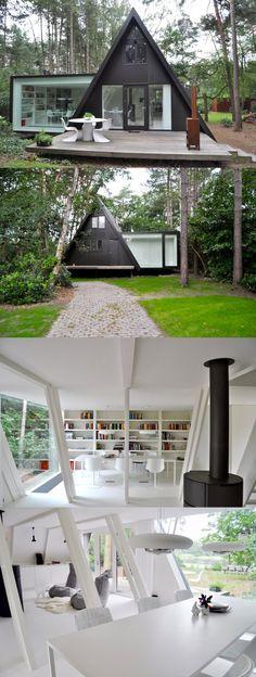 nowoczesny domek letniskowy Gazebo, Law, Outdoor Structures, Camping, Projects, Campsite, Kiosk, Pavilion, Cabana