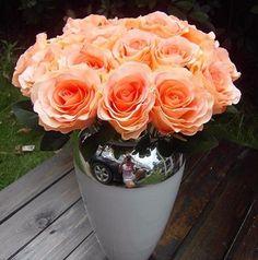 GNW FL-RS9-8cm Hot sale Romantic Similation champagne rose flower for Wedding