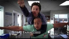 """And finally, every time """"eagle"""" happened.   27 """"Scrubs"""" Moments That Will Make You Laugh Every Time"""
