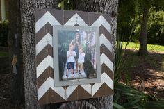 Distressed Picture Frame, Wood 8x10 Frame, Brown Picture Frame,  8x10 Picture Frame, Wood Plank Frame, Chevron Frame by WestAshleyWallArt on Etsy