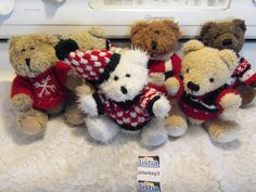 ~Set of Hugfun Bears in Sweaters~