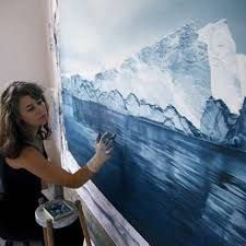 American artist Zaria Forman creates hyper realistic drawings in soft pastel that actually look like wonderful landscape photography. Realistic Paintings, Realistic Drawings, Pastel Drawing, Pastel Art, Like Image, Finger Painting, Painting Art, Art Plastique, Oeuvre D'art
