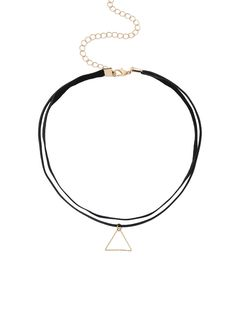 Shop Triangle Pendant Double Layer Choker online. SheIn offers Triangle Pendant Double Layer Choker & more to fit your fashionable needs.