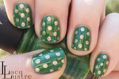 St. Patrick's Day Nail Art- Polka Dots