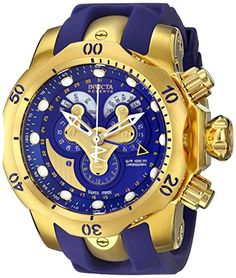 Men's Wrist Watches - Invicta Mens 14465 Venom Analog Display Swiss Quartz Blue Watch *** You can find more details by visiting the image link.