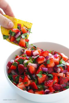 5-Ingredient Strawberry Salsa | Community Post: 17 Mouthwatering Ways To Have A Love Affair With Strawberries