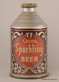 Cremo Sparkling Beer Beer Can Collection, Old Beer Cans, Beer Brands, Beer Signs, Tin Cans, Vintage Labels, Craft Beer, Liquor, Whiskey