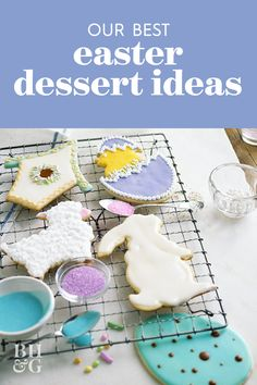 Our collection of cute Easter desserts, including egg-shaped Easter cookie recipes, Easter cheesecakes, and several twists on carrot cake. #easterdessert #dessertrecipes #eastercakeideas #bhg