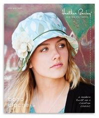 Boho Cloche by Heather Bailey. Cute alternative to the traditional chemo hat. i think I need this pattern and a bunch of cute fabric. : )