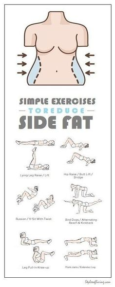 How to Get Rid of Side Fat and Love Handles Fast At Home. Try these Exercises for Side Fat Today and Lose 10 Pounds in 2 weeks. diet workout how to get Fitness Workouts, Fitness Diet, At Home Workouts, Fitness Motivation, Health Fitness, Yoga Fitness, Planet Fitness, Sport Fitness, Fitness Weightloss