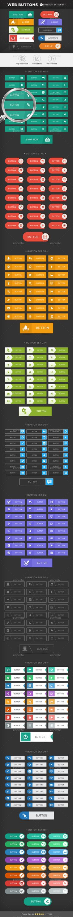 Web Buttons PSD 버튼이미지