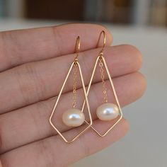 geometry earringsDelicate 14k Gold Filled by accessoryhome on Etsy